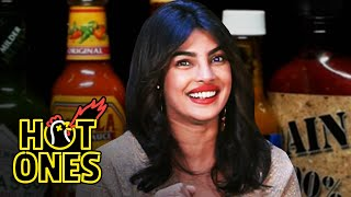 Priyanka Chopra Jonas Explains the Essence of Hot Sauce While Eating Spicy Wings | Hot Ones