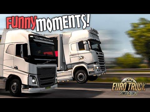 Euro Truck Simulator 2 Multiplayer Funny Moments & Crash Compilation #74