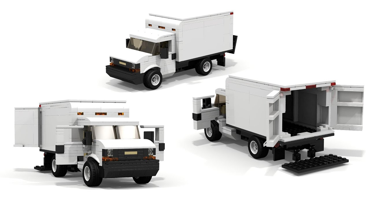 lego chevrolet express cargo truck instructions youtube