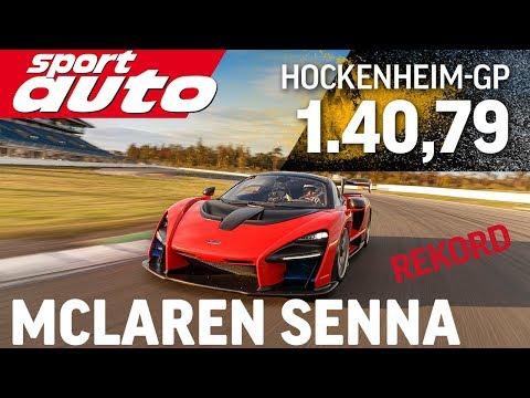 McLaren Senna | Production car lap record Hockenheim GP | sport auto | Hot Lap