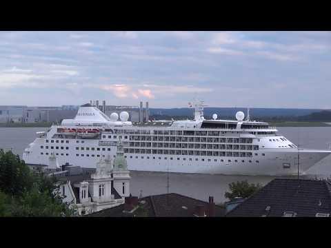 Cruise Ship Silver Wind Leaves Hamburg