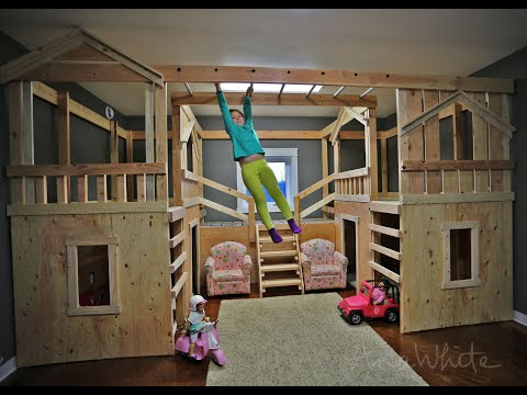 Ana White | DIY Basement Indoor Playground with Monkey Bars - DIY Projects