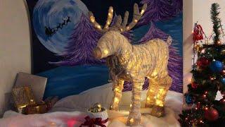 новогодний светящийся  олень из проволоки. МК.  Christmas luminous deer made of wire
