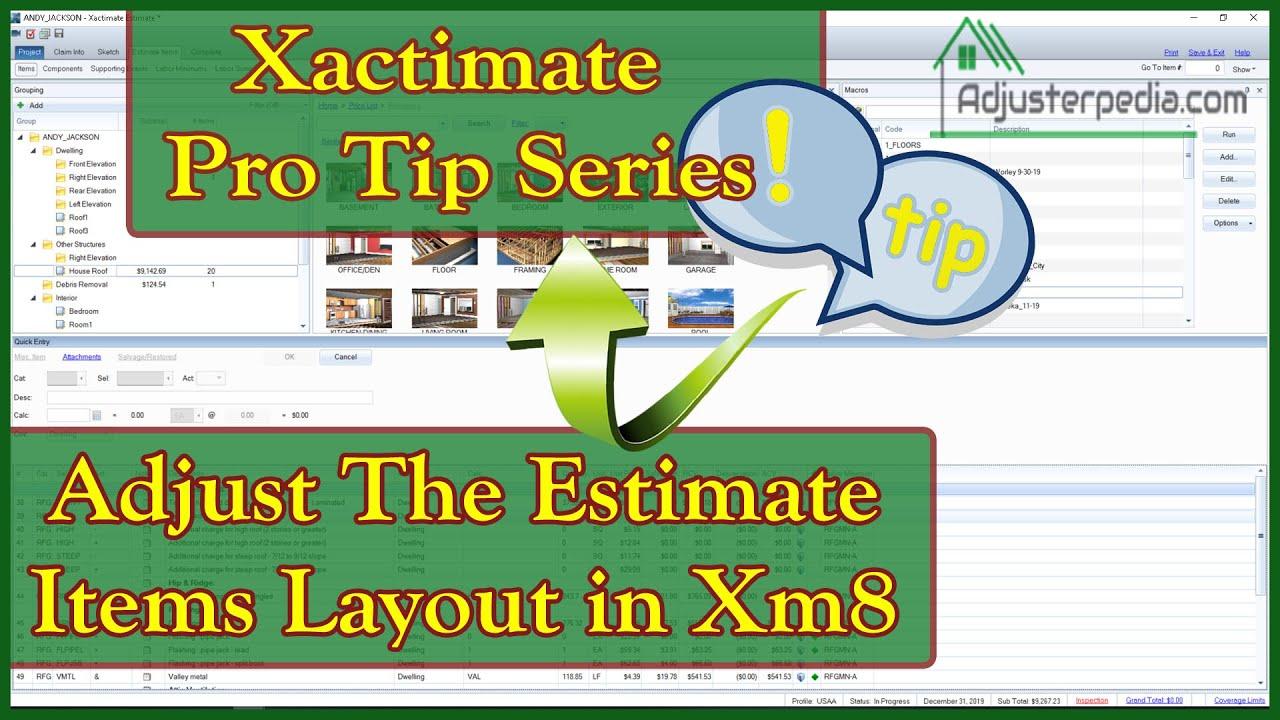 Free Xactimate Tutorials - Adjusterpedia com