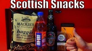 Eating Scottish Snacks, Scottish Junk Food And Drinking Scottish Drinks In Edinburgh, Scotland