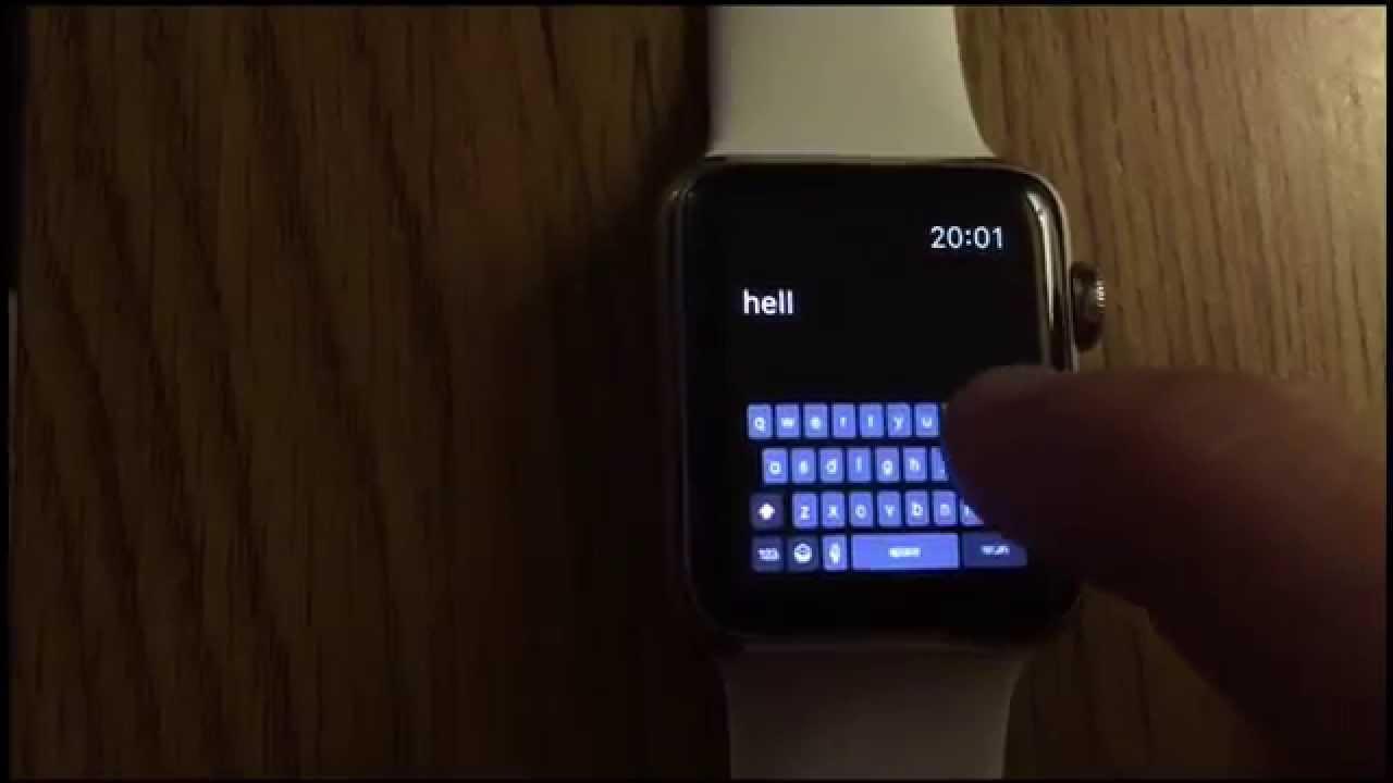 Fully Working Keyboard on Apple Watch