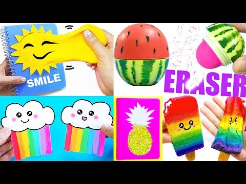DIY SCHOOL SUPPLIES (Summer-inspired) | Easy & Cute Back to School Crafts