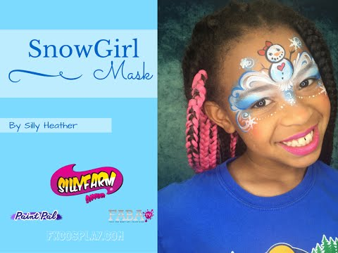 SnowGirl Holiday face Painting