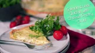 Salmon & Leak Quiche With Cheesy Pastry Crust