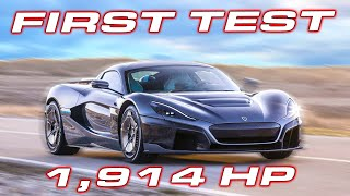 FIRST TEST * 1,914 HP Rimac C Two runs 8's on the STREET in the 1/4 Mile