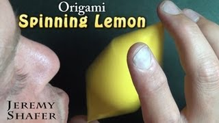 Origami Spinning Lemon
