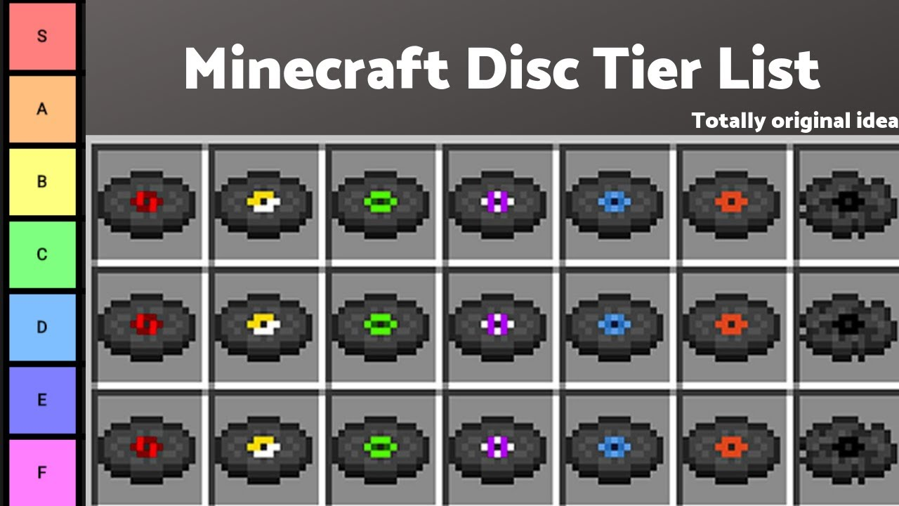 My Minecraft Disc Tier List - YouTube