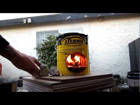 Rocket Stove with alternative fuel and firestarter