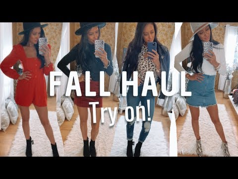 """FALL """"STYLED"""" TRY ON HAUL How to STYLE each item EXPRESS & MARSHALLS"""