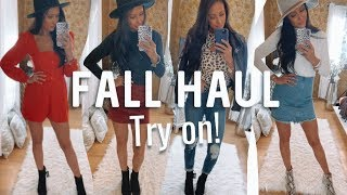 """FALL """"STYLED"""" TRY ON HAUL! How to STYLE each item! EXPRESS & MARSHALLS"""