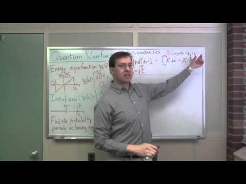 Quantum wavefunctions: calculating a measurement probability