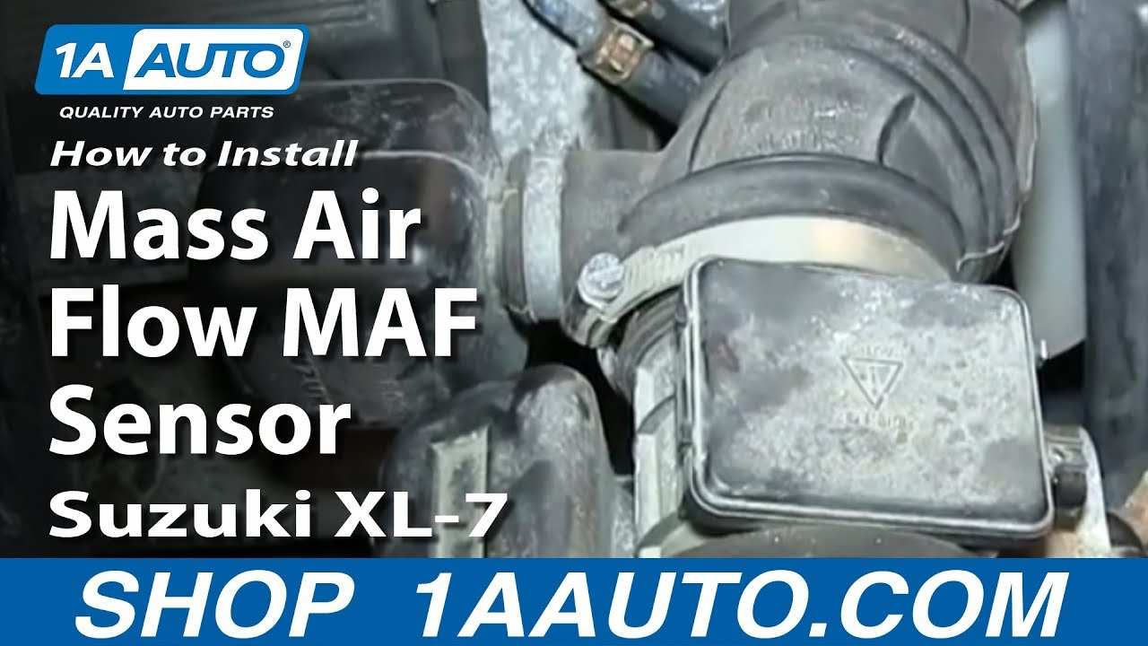 how to install replace mass air flow maf sensor suzuki xl 7 1a auto parts [ 1920 x 1080 Pixel ]