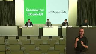 Coronavirus (Covid-19): persconferentie  Update van 12/10/2020