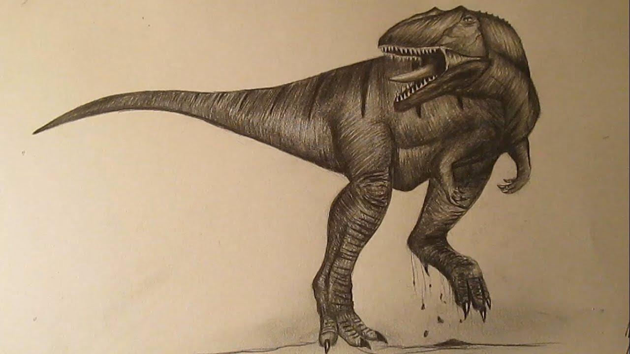 Cmo dibujar un dinosaurio realista a lpiz paso a paso dibujos