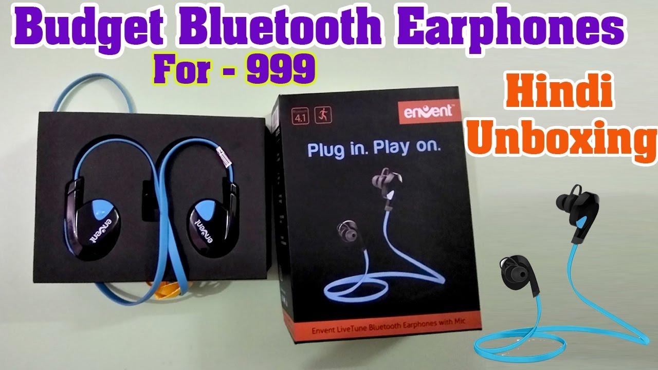 Envent Wireless Bluetooth Earphones Under 1k Flipkart Unboxing Youtube