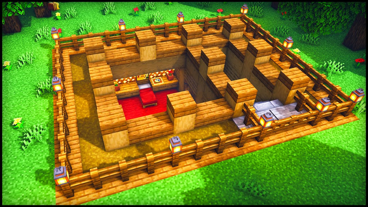 Minecraft: Survival Underground House | How to build a Cool Underground House Tutorial