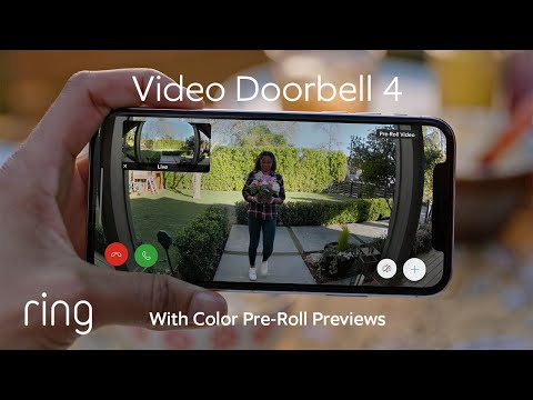 Ring Video Doorbell 4 | Featuring Color Pre-Roll Video Previews & Quick Replies