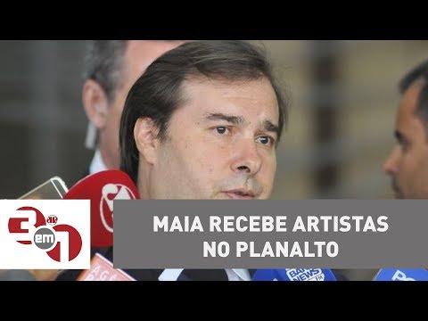 Rodrigo Maia Recebe No Planalto Artistas Que Defendem A Saída De Michel Temer