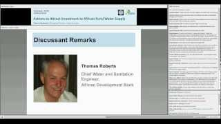 Webinar #2: Actions to Attract Investment to African Rural Water Supply