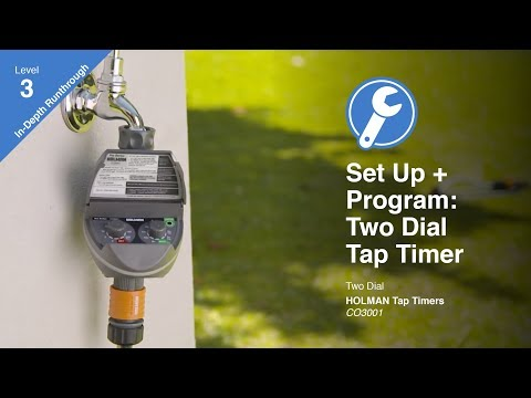 How to Program the Holman Pro Series Two Dial Tap Timer (CO3001)