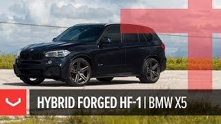 Vossen Hybrid Forged HF-1 Wheel   BMW X5   Tinted Matte Gunmetal