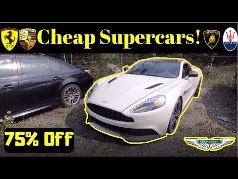 Modified Supercars at Salvage Auction! Copart: Ferrari, GTR Samcrac