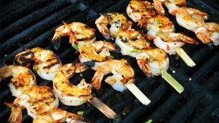 Fiery Caribbean Scotch Bonnet Honey Grilled Shrimp.