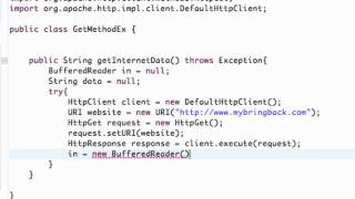 Android Application Development Tutorial   148   Executing HttpGet on a Http Client