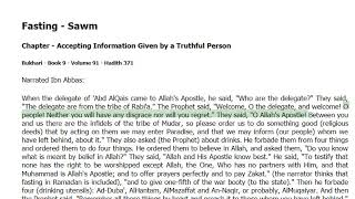 Fasting-Sawm - in Accepting Information Given by a Truthful Person -Bukhari Hadith