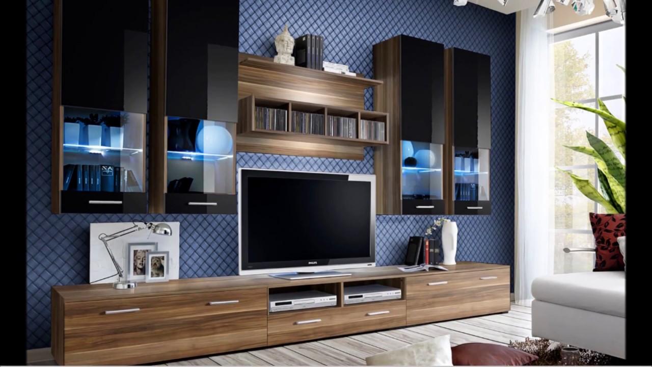 meuble tv design mural laque bois a led trendymobilier com
