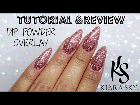 How To Dip Powder Overlay Kiara Sky Pink Sparkle