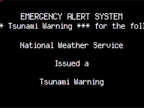 Tsunami Warning: West Coast of United States