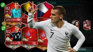 *we pull 6 insane 81+ world cup elites* fifa mobile 18 world cup mode my best pack opening so far!!!