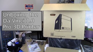 Unboxing the Da Vinci 1.0 Pro 3D Printer - How packaging should be.