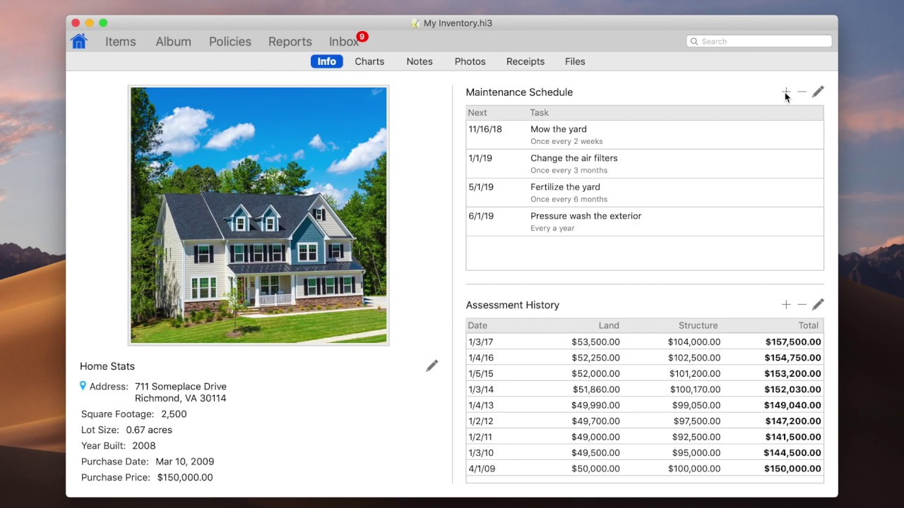 Home Inventory Binary Formations Llc