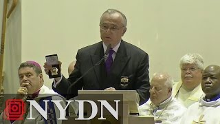 Police Commissioner William Bratton Remarks at Officer Brian Moore's Funeral (FULL VIDEO)