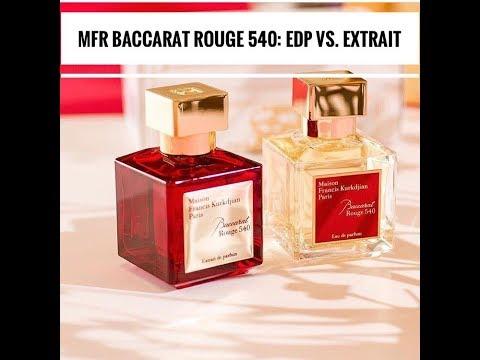 Сравнение ароматов Maison Francis Kurkdjian Baccarat Rouge 540: парфюмерная вода Vs. парф. экстракт