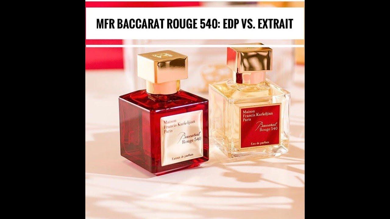 сравнение ароматов Maison Francis Kurkdjian Baccarat Rouge 540