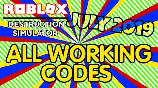 All Working Codes (July 2019) in Destruction Simulator - Roblox
