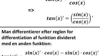 tangens og dens diferentialkvotient
