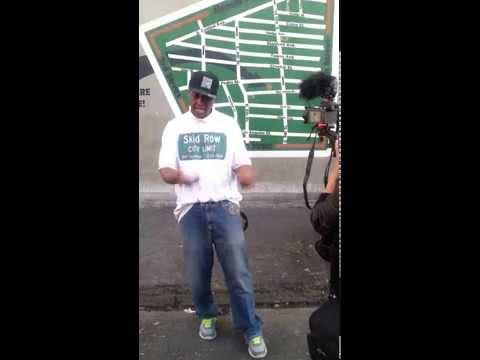 General Jeff being interviewed in downtown Skid Row Vid 2.