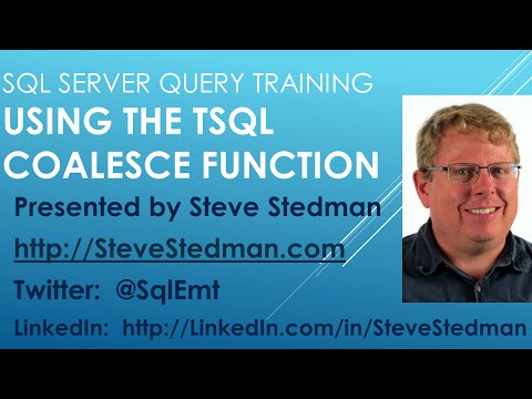 Using the SQL Server COALESCE function