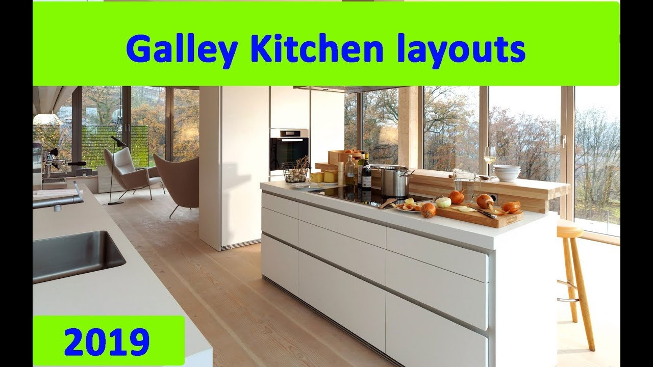 GALLEY KITCHEN : New Galley Kitchen layouts 2019 - YouTube
