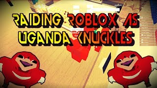 Roblox| Raiding Random Games As Knuckles| You Must Know Da Wae To Watch This Video
