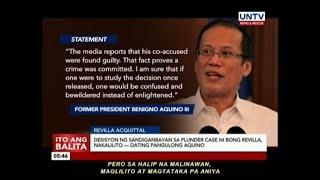 Desisyon ng Sandiganbayan sa plunder case ni Bong Revilla, nakalilito — ex-Pres. Aquino
